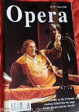 OPERA MAGAZINE, JUNE 1998, TRUTTICO, ANDREAS SCHOLL, GAVIN BRYARS, DR. OX