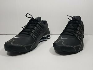 best loved 26685 21ac4 Details about Nike Shox NZ Men's Running Shoes Black White Gray 378341 017  Sz 12
