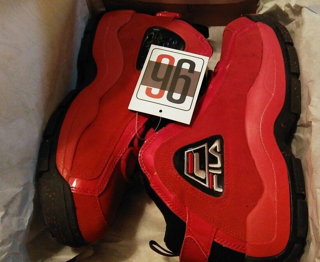 Fila Grant Hill 96 Retro Size 8 Men's All Red/Black Rare stackhouse og