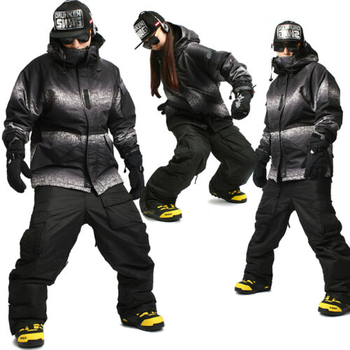 Mens SOUTH PLAY Waterproof Ski Snowboard Jumper Suits Jacket + Pants Set T002