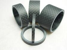Black Carbon Matt Spacers 3mm,5mm,10mm,15mm,20mm  Full Sets Head Spacers