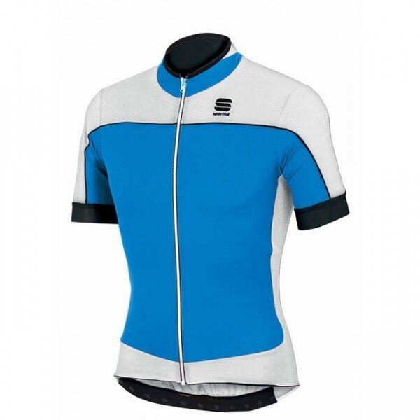 Sportful Giau Jersey Fahrrad-Kurzarmtrikot, schwarz weiß blau gelb - 1101333
