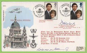 Graham-Brown-1981-conjunto-de-boda-real-en-volado-amp-firmado-RAF-primer-dia-cubierta-bfps-1932