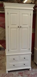 Two-Door-amp-Three-Drawer-Painted-Edwardian-Style-Wardrobe-with-cut-out-plinth