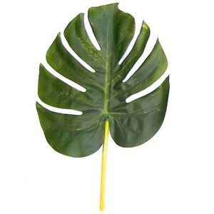 28cm-Artificial-Monstera-Swiss-Cheese-Plant-Leaves-Plastic-Foliage-Green