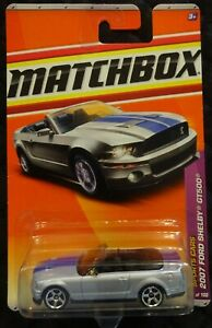 MATCHBOX MB7 2007 FORD MUSTANG SHELBY GT500 CONVERTIBLE ...