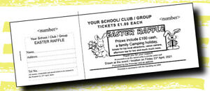 250 Prize Draw Tickets - Raffle Tickets Fundraising