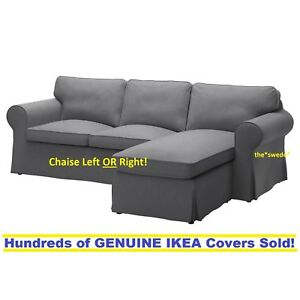 Pleasing Details About Ikea Ektorp 3 Seat Sectional Loveseat Chaise Slipcover Cover Nordvalla Dark Gray Andrewgaddart Wooden Chair Designs For Living Room Andrewgaddartcom