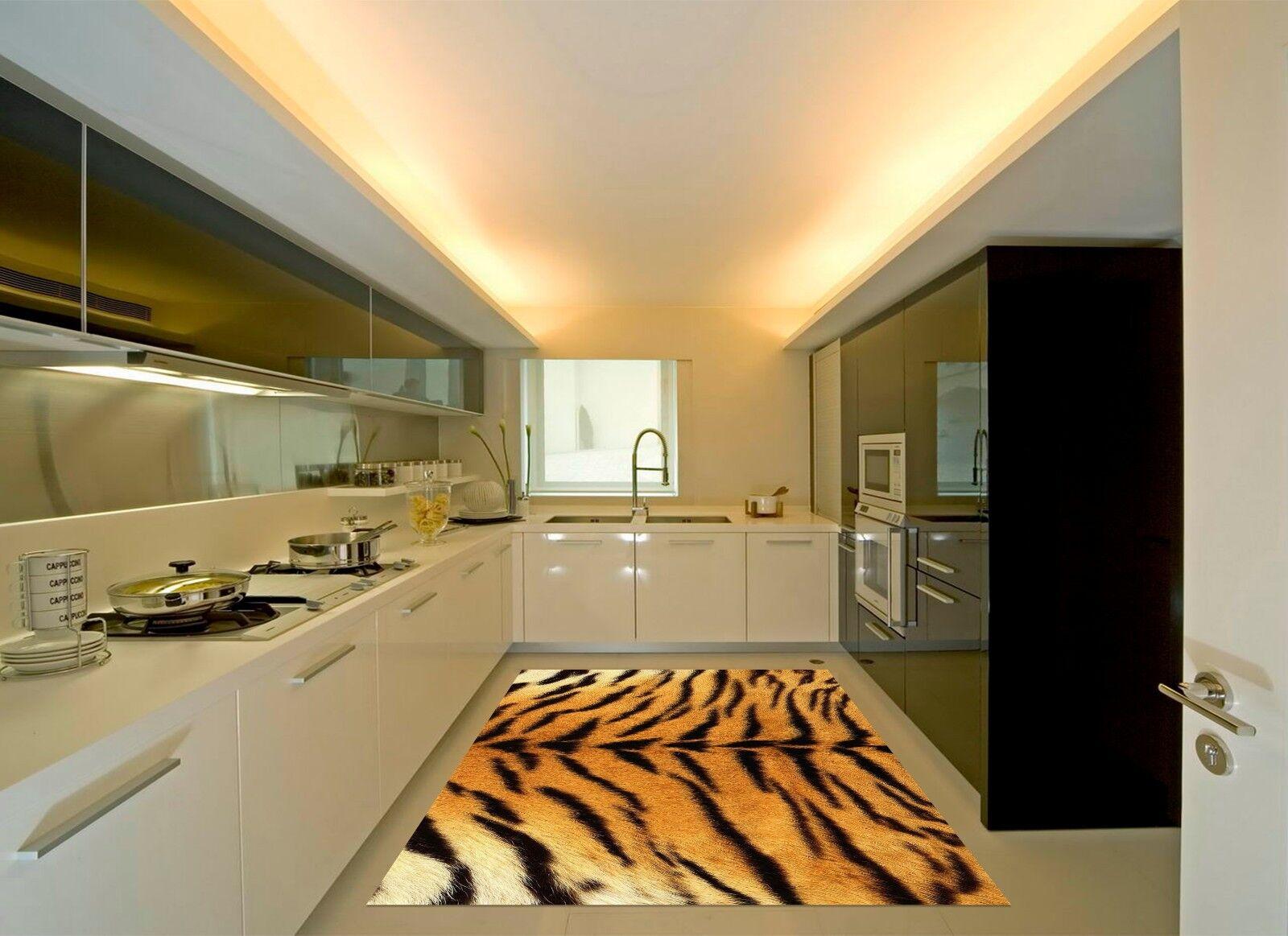 3D 3D 3D Tiger Pattern 734 Kitchen Mat Floor Murals Wall Print Wall Deco UK Carly 68826e