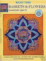 Ricky Tims Baskets And Flowers--rhapsody Quilts Volume 2 Book We98509