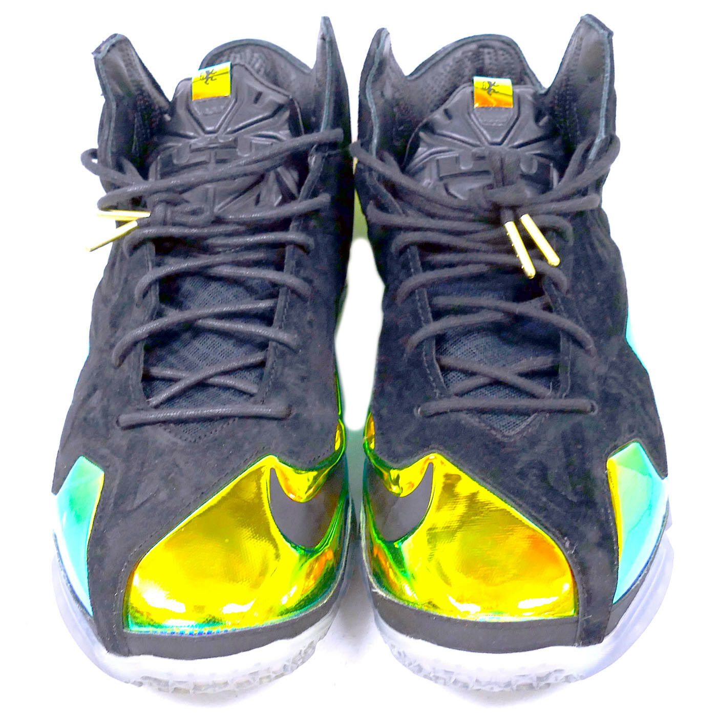 NIKE LEBRON GOLD XI EXT QS KING'S CROWN BLACK /BLACK-METALLIC GOLD LEBRON SNEAKERS WITH BOX 40ab45
