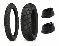 Shinko 90/90-21 & 130/80-17 705 Tire & Tubes Set XL600R, KLR650, DR650SE, XT600
