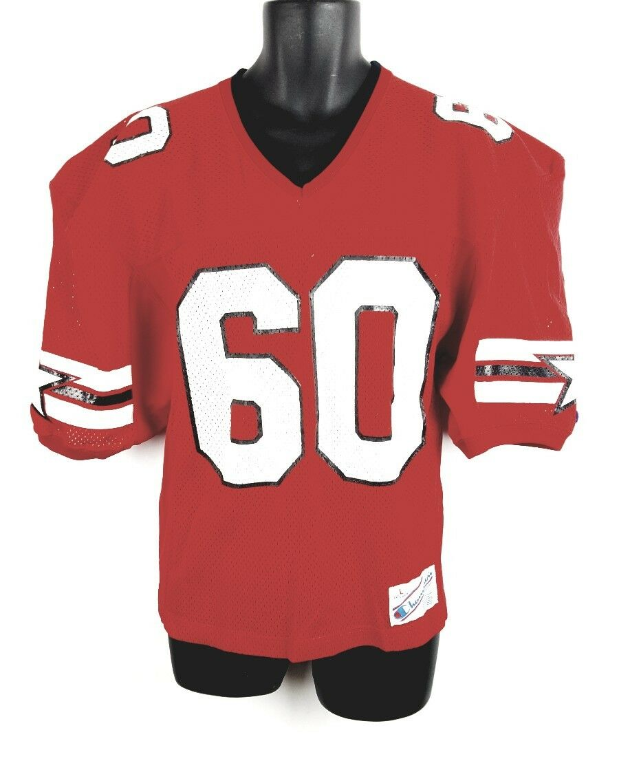 Vintage Champion Football Jersey Large Star Red s 90s G2
