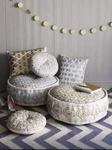 Embroidered-Metallic-Phulkari-Cushion-by-Bombay-Duck-London-60cm-x-40cm