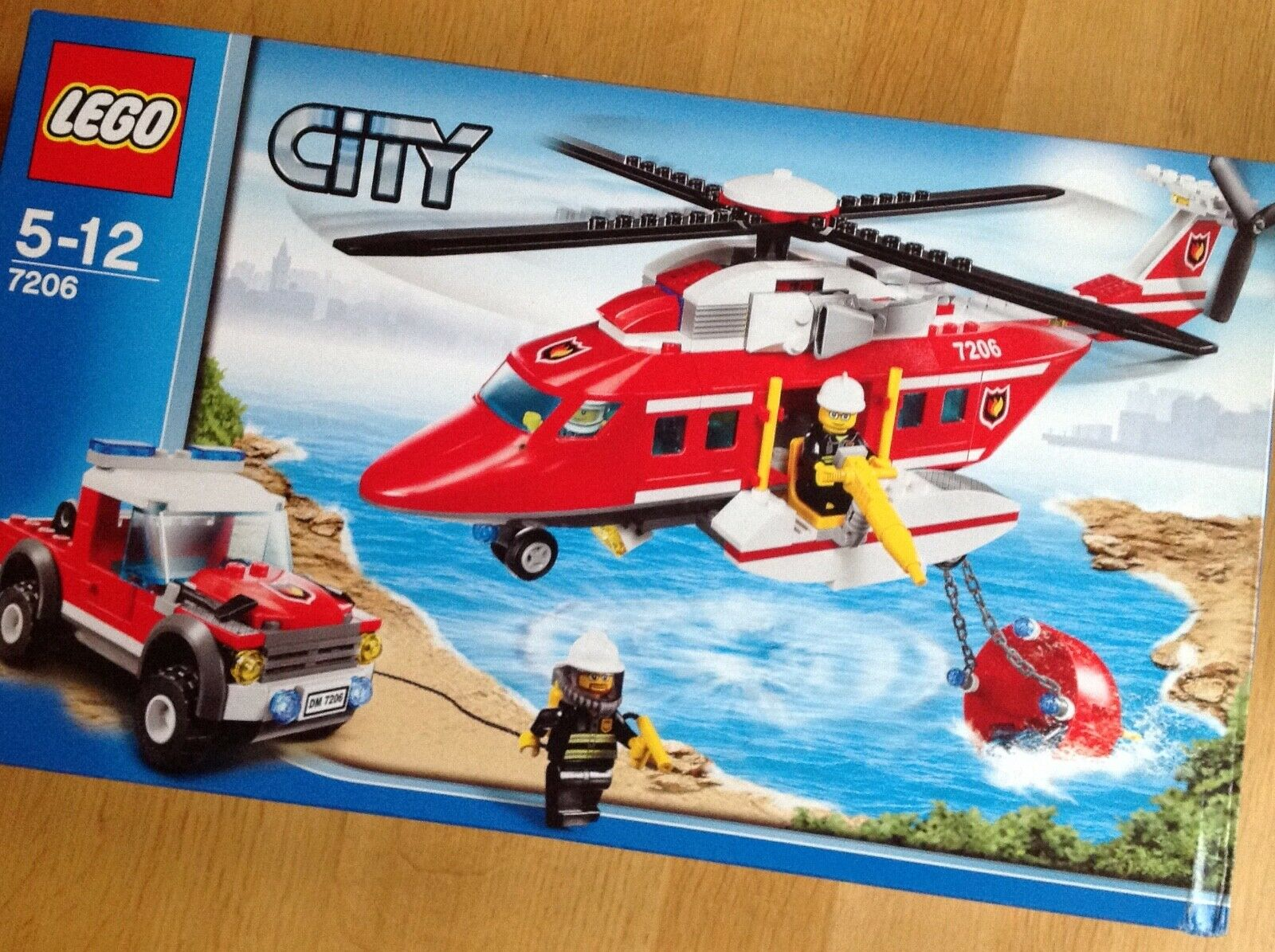 LEGO CITY 7206 HELICOPTER & FIRE JEEP SET - NOW RETIRED - BRAND NEW & UNOPENED
