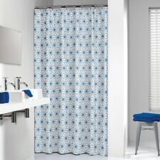 Delicieux Extra Long Shower Curtain 72 X 78 Inch Sealskin Triangles Blue Fabric