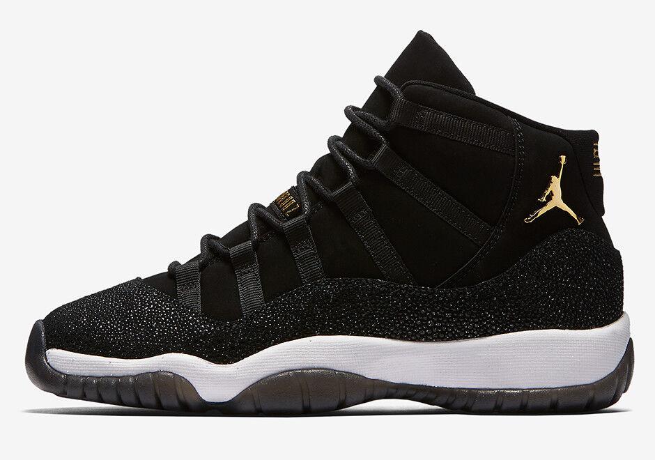 Wmns Nike Air Jordan 11 Retro Negro Premium HC Sz 10 Negro Retro Stingray oro 852625-030 320707