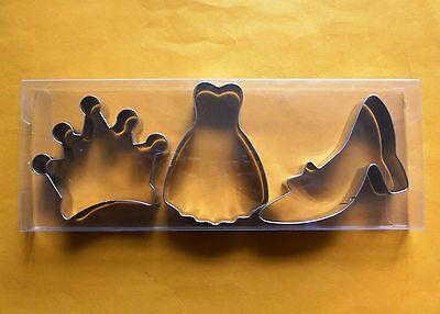 3pcs Lady dress high heels baking fondant stainless steel cookie cutter mold set