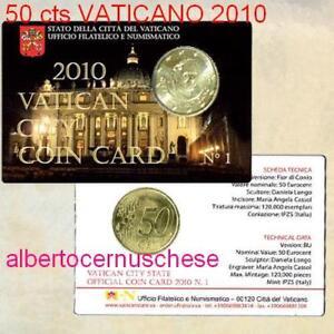 coin-card-50-cent-EURO-2010-VATICAN-Vaticano-Vatikan