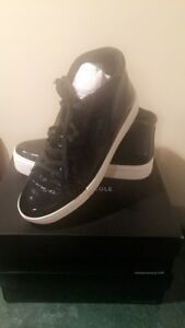 Kenneth Cole New York Womens Janette High Top Lace Up Platform Sneaker Patent Fashion