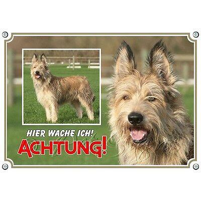 Bescheiden Hundeschild - Berger De Picardie - Haltbares Metallschild Warnung