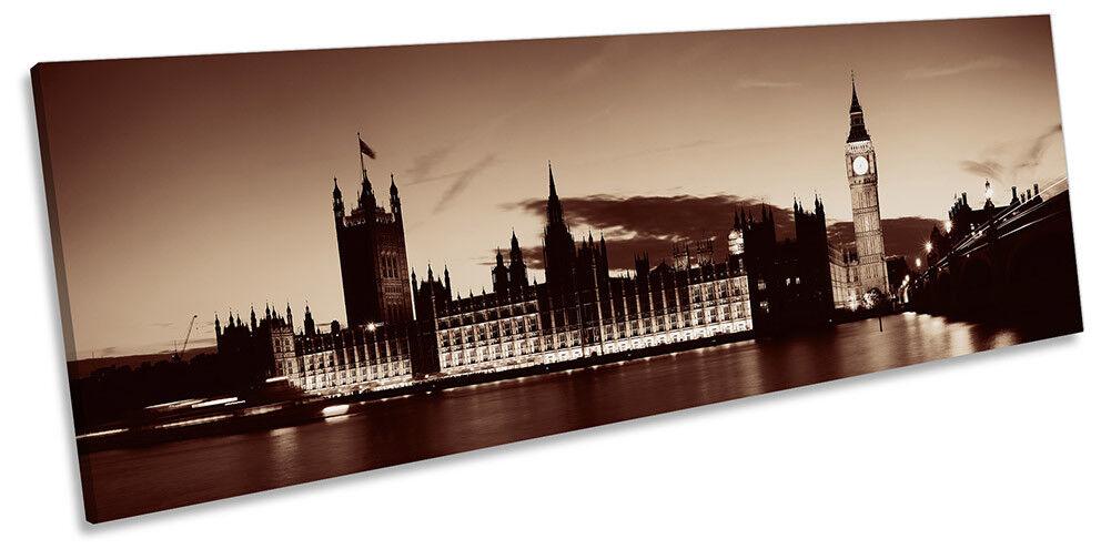 Casas de Londres LONA del Parlamento panorama de LONA Londres pared arte impresión de foto 26318a