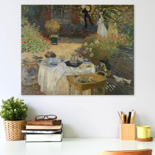 Claude Monet Das Mittagessen im Garten Claude Monets in Argenteuil Poster