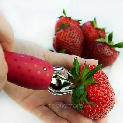 Strawberry Stem Leaves Huller Remover Removal Fruit Corer Kitchen Tools Gadget