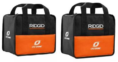 2 Ridgid OCTANE Heavy Duty Cross X-Stitched Contractor's Tool Bag 13 x 12 x 8