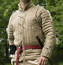 Beige Gambeson, Size Small, Medium, LARP, Renaissance, Theater, Armor, Padded