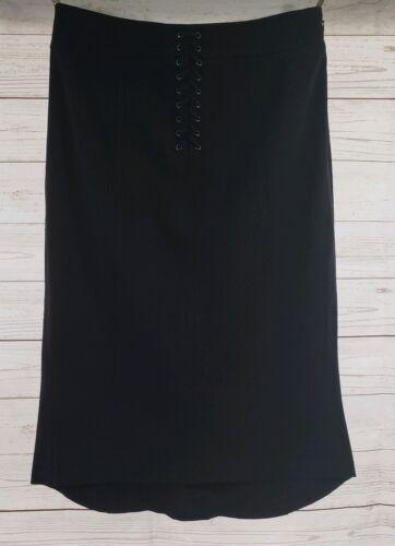 Limited Zip Front Black The Side Up Lace Lo Skirt Hi 6 Sz Women Stretch qzCzPdR