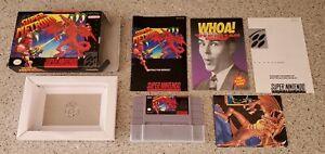 Super-Metroid-Super-Nintendo-SNES-Samus-Game-CIB-Complete-Box-Book-Manual-lot