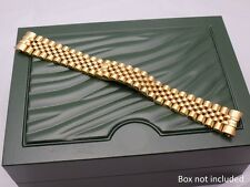 20mm GOLD PLATED S/S JUBILEE BRACELET STRAP FOR ROLEX DATE JUST 116233 UK STOCK
