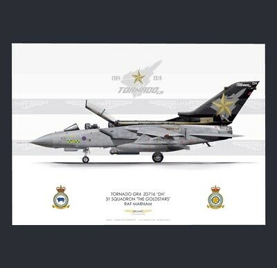 RAF 31 Squadron MINI tab patch Tornado Marham Goldstars