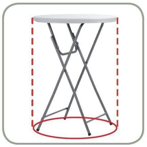 Cocktailbord / Ståbord / Cafébord ZOWN Ø80 cm