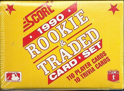 1990 Score Rookie /& Traded Baseball Complete Factory Sealed Set