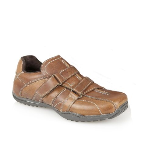 Boys Real Leather Sude Trainers Causual Pumps Kids Shoes
