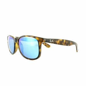 f593a9270c3 Ray-Ban Andy RB4202 710 9R 55 Polarized Square Men s Sunglasses -  Tortoise Blue Flash