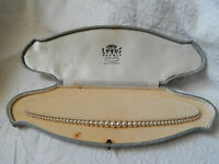 VINTAGE 1950's LOTUS SIMULATED PEARL NECKLACE ~  9 ct GOLD CLASP ~ FITTED BOX