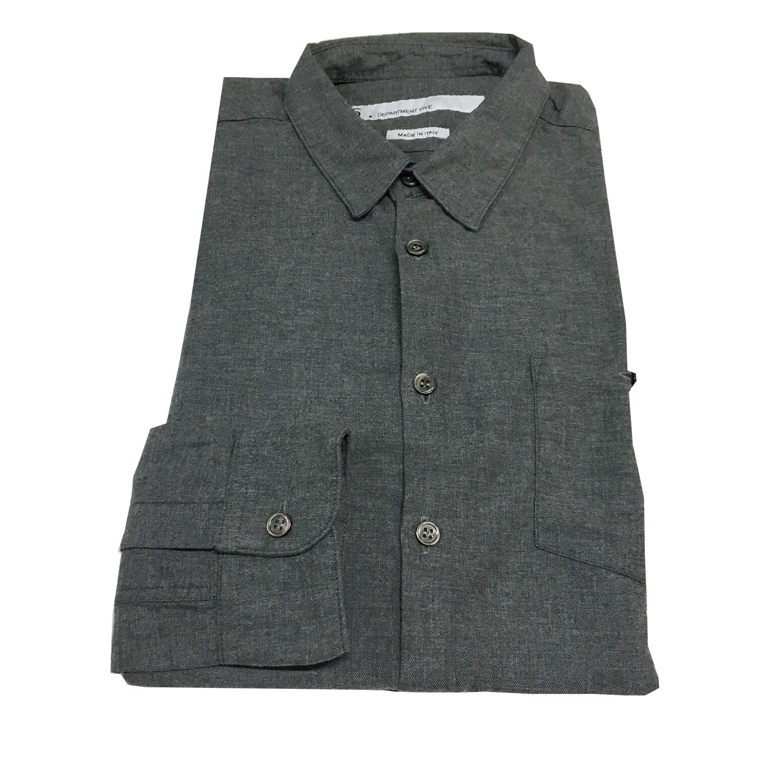 DEPARTMENT 5 men's shirts flannel grey 100%cotton MADE IN ITALY
