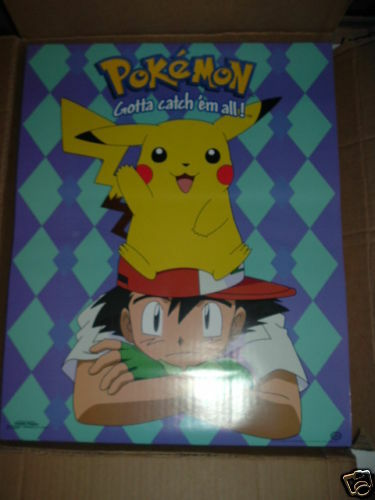 "399 Pokemon Ash /& Pikachu Movie Poster 22/""x 34/"" New"