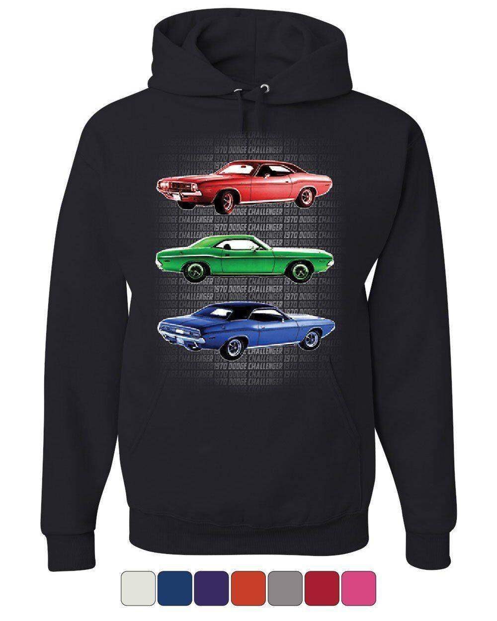 1970 Dodge Challenger Hoodie 1st Gen T A Classic Muscle Car Sweatshirt