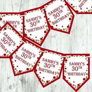 Personalised-21st-30th-Birthday-Bunting-Banner-Party-Boy-Girl-Decoration-Any-Age