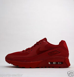 Details about Nike Air Max 90 Ultra Essential Womens Trainers Shoes Triple Red