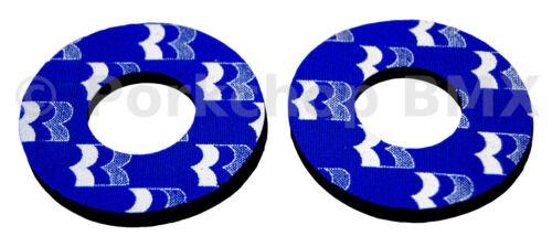 sous licence 1988-89 Robinson Old school BMX Vélo Grip mousse donuts bleu