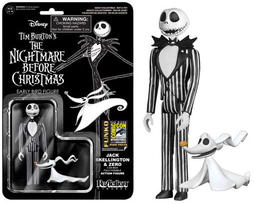 FUNKO REACTION NIGHTMARE BEFORE CHRISTMAS JACK SKELLINGTON FIGURE NUOVO NEW
