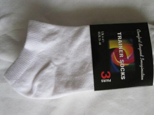 """livraison gratuite à Royaume-Uni uniquement Bnwt 12 X /""""Premium WEAR/"""" Blanc Sneaker Chaussettes-Taille 4-6.5"""