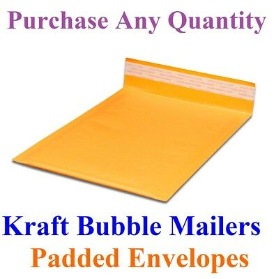 10-2000 #5 10.5x16 Mailing Kraft Bubble Mailers Padded Envelopes Bags 10.5 x 15