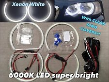 LED SMD 6000K Angel Eye Halo Ring Kit Xenon White For 01-06 BMW E46 M3