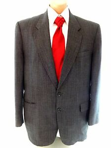 COBURNE SQUARE MENS GRAY WOOL SUIT JACKET SPORT COAT SIZE 44 L | eBay
